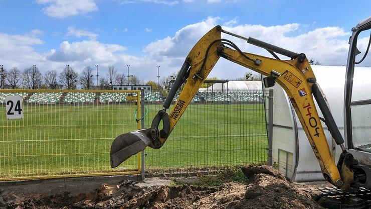 Trwają prace na obiektach wicelidera Fortuna 1 Ligi