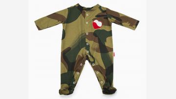 """Pajacyk moro, body z nadrukiem """"Żołnierze Wyklęci"""". Narodowe ubranka dla niemowląt"""