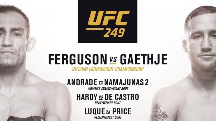 Poznaliśmy kartę walk UFC 249. Kolejne gale na prywatnej wyspie?
