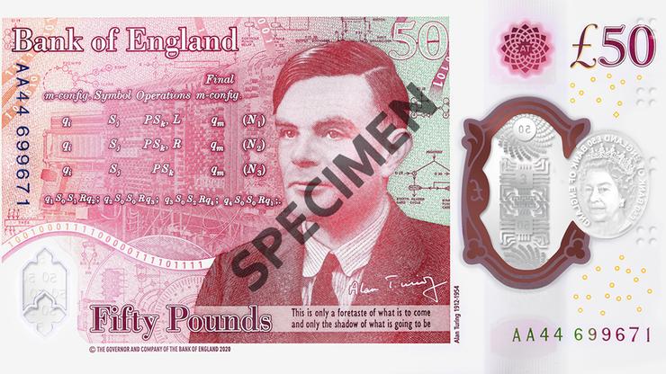 Alan Turing na angielskim banknocie. Agencja wywiadu ukryła 12 zagadek na jego cześć