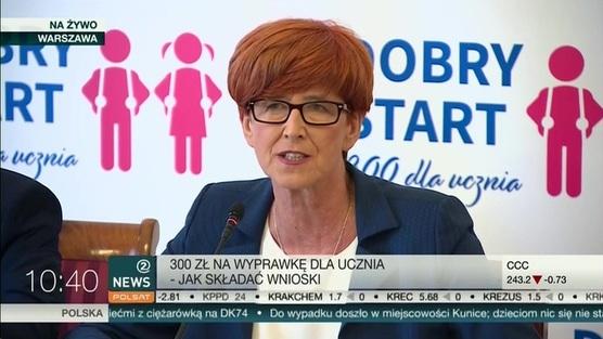 Minister rodziny, pracy i polityki społecznej Elżbieta Rafalska - 11.06.2018