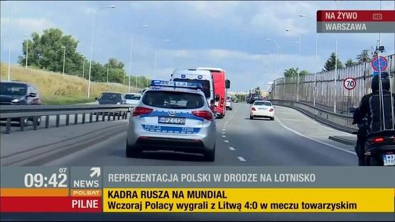 Wylot piłkarskiej Reprezentacji Polski na MŚ 2018 w Rosji - 13.06.2018